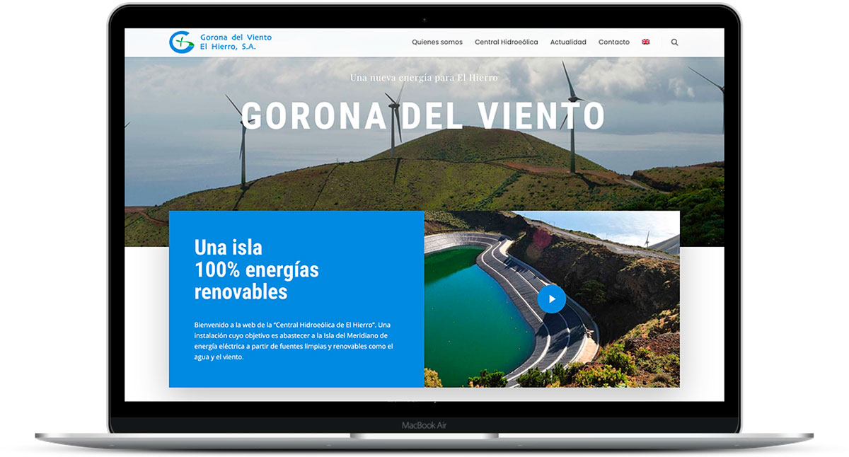Gorona del Viento unveils its new website