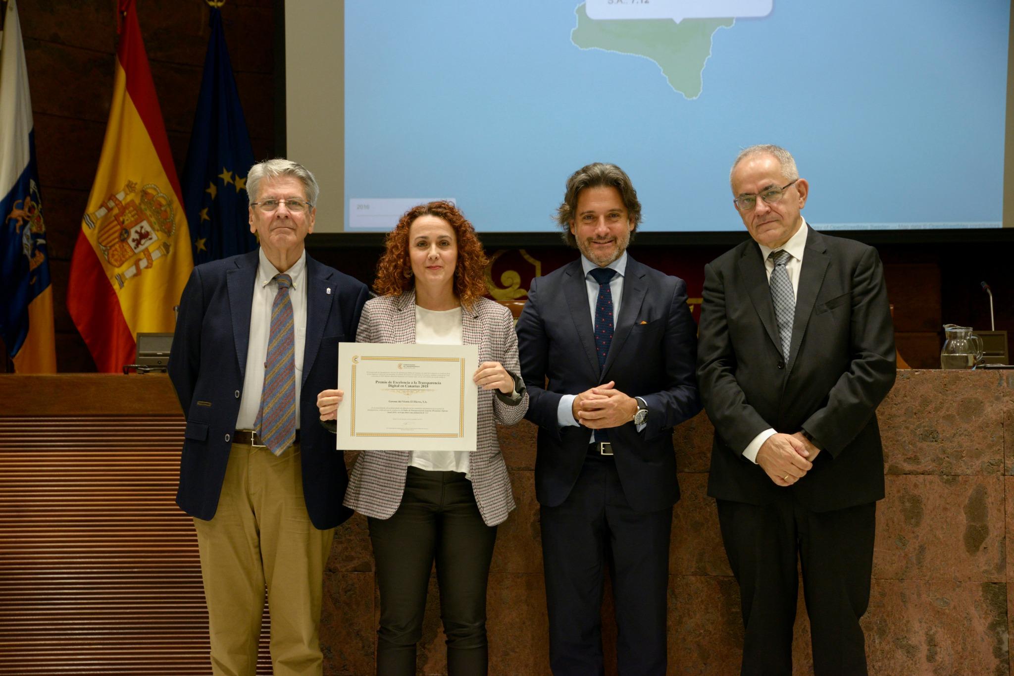 Gorona del Viento, Premio de Excelencia a la Transparencia Digital de Canarias