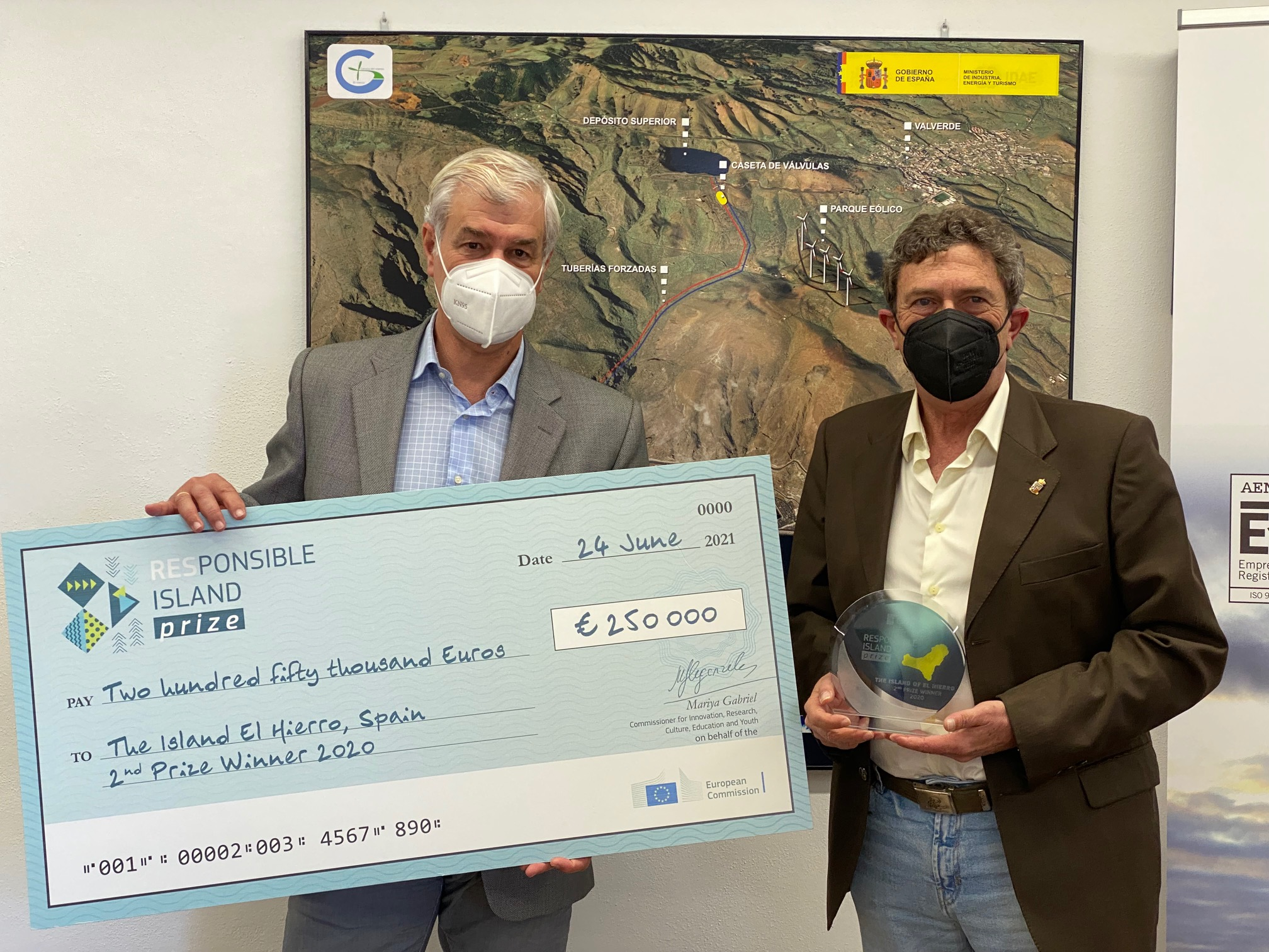 The island of El Hierro is awarded the RESponsible Island Prize